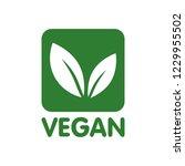 vegan bio  ecology  organic... | Shutterstock .eps vector #1229955502