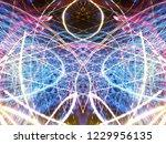 symmetrical colorful light...   Shutterstock . vector #1229956135