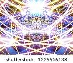 symmetrical colorful light...   Shutterstock . vector #1229956138