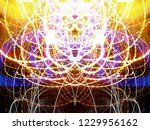 symmetrical colorful light...   Shutterstock . vector #1229956162