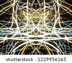 symmetrical colorful light...   Shutterstock . vector #1229956165