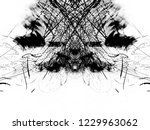 grunge black ink paint.isolated ...   Shutterstock . vector #1229963062
