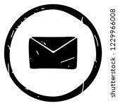 simple envelope icon vector... | Shutterstock .eps vector #1229966008