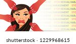 stop sexual harassment concept | Shutterstock .eps vector #1229968615