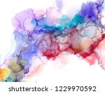 alcohol ink texture. fluid ink... | Shutterstock . vector #1229970592