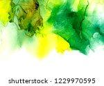 alcohol ink texture. fluid ink... | Shutterstock . vector #1229970595