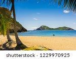 anse rodrigues  terre de haut ... | Shutterstock . vector #1229970925