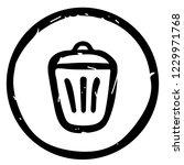 rubbish bin icon vector... | Shutterstock .eps vector #1229971768