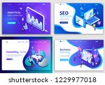 set of web page design... | Shutterstock .eps vector #1229977018