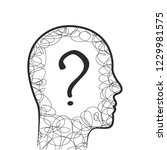 head  scribble and question... | Shutterstock .eps vector #1229981575
