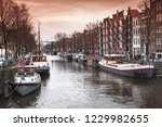 canal perspective  street view...   Shutterstock . vector #1229982655