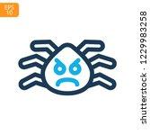 spider web thin line icon....   Shutterstock .eps vector #1229983258