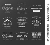 vintage retro logos collection | Shutterstock .eps vector #1229995648