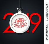 2019 new year greeting card... | Shutterstock .eps vector #1230008425