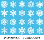 snowflake set  isolated | Shutterstock .eps vector #1230030595