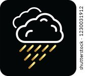 rain cloud icon for web and... | Shutterstock .eps vector #1230031912