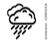 rain cloud icon for web and... | Shutterstock .eps vector #1230031918