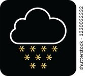 snow cloud icon for web and... | Shutterstock .eps vector #1230032332