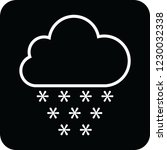 snow cloud icon for web and... | Shutterstock .eps vector #1230032338