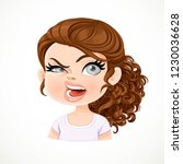 beautiful aggressive cartoon... | Shutterstock .eps vector #1230036628