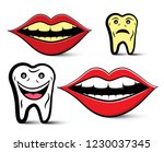 cleaning teeth design with... | Shutterstock .eps vector #1230037345