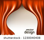 vector banner design with red... | Shutterstock .eps vector #1230040408