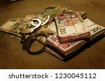 many ukrainian money hryvnia....   Shutterstock . vector #1230045112