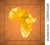 sketch blot dotty african... | Shutterstock .eps vector #1230051628