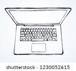 empty open lcd netbook type on...