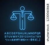 business ethic neon light icon. ... | Shutterstock .eps vector #1230060868