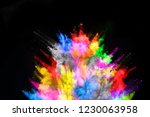 abstract colored dust explosion ... | Shutterstock . vector #1230063958