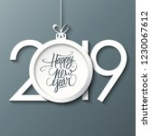 2019 new year celebrate card... | Shutterstock .eps vector #1230067612