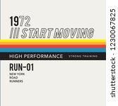 athletic run new york... | Shutterstock .eps vector #1230067825