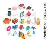ranch icons set. isometric set... | Shutterstock . vector #1230069145