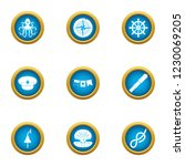 undersea world icons set. flat... | Shutterstock . vector #1230069205