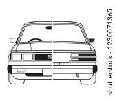 retro sedan car silhouette.... | Shutterstock .eps vector #1230071365