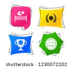 volleyball and net icons.... | Shutterstock .eps vector #1230072202