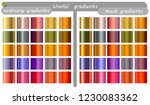 multicolored gradient set. mesh ... | Shutterstock .eps vector #1230083362