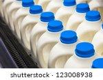 Milk Bottle In A Row In The...