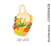 illustration of simple eco bag... | Shutterstock .eps vector #1230090628