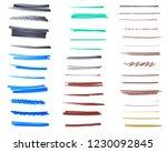 set of marker ink brushes... | Shutterstock . vector #1230092845