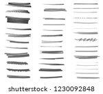 set of marker ink brushes... | Shutterstock . vector #1230092848