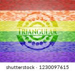 triangular on mosaic background ... | Shutterstock .eps vector #1230097615