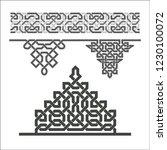 arabic border and decorative...   Shutterstock .eps vector #1230100072