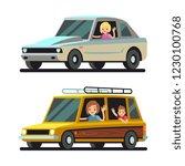 young happy women driver... | Shutterstock .eps vector #1230100768
