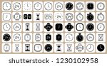 clock line icons isolated on...