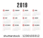 vector pocket 2019 year... | Shutterstock .eps vector #1230103312