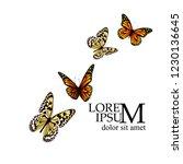 flying butterflies. vector | Shutterstock .eps vector #1230136645