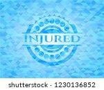 injured realistic light blue... | Shutterstock .eps vector #1230136852