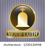 golden emblem or badge with... | Shutterstock .eps vector #1230136948